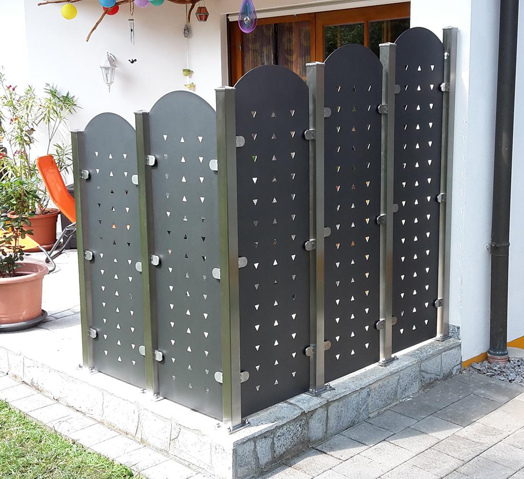 Sichtschutz Aus Metall Ganz Individuell Tiko Metalldesign